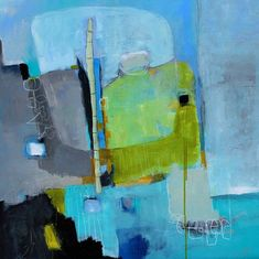 The Meeting Place modern abstract wall art original painting 30 x 30 by artist and author Jodi Ohl