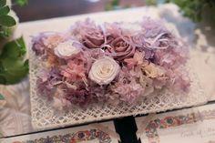 秋の装花 親族だけのご結婚式 シェ松尾松濤レストラン様へ リングピロー プリザーブド