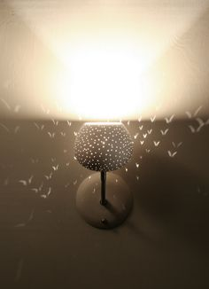 Claylight Sconce with Touch Dimmer.... look at the lil butterflies!  So cute!