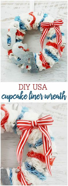 DIY Patriotic Cupcak