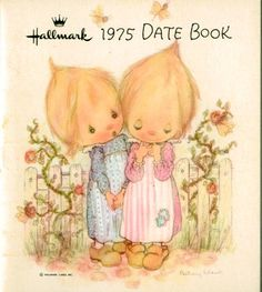 Vintage Hallmark Betsey Clark 1975 Date Book  Clean & Crisp with no writing.