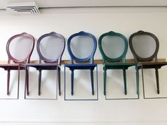 chair shelves...interesting idea
