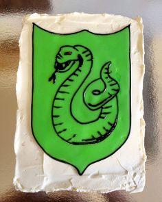 Slytherin crest birthday cake