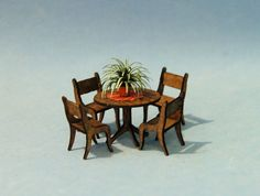 1/4 inch scale miniatureRound Table and Chairs by sdkminiatures, $48.50