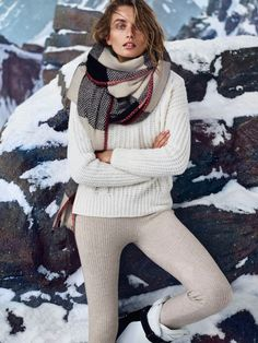 Andreea Diaconu Bundles Up in Massimo Dutti's Après Ski Collection