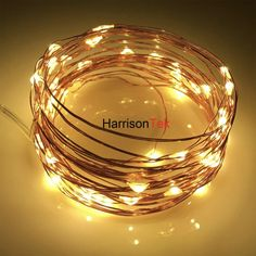 16ft 50led copper wire starry string lights aa battery powered rope 10x5m50 battery operated led holiday lights christmas decor mini silver copper wire invisible fairy aloadofball Choice Image