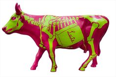 FABIANO PANIZZI 51 9986.7256 Eat More Chicken, Cow Parade, Musk Ox, Cow Art, Cows, Chicago, Sculpture, Statue, Quilts