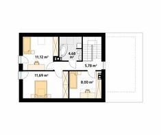 Projekt domu Jagoda 4 - rzut piętra/poddasza Sliders, Floor Plans