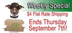 $4 Flat Rate shipping ends Thursday, Stock up NOW!   http://ss1.us/a/dyTMoJS0