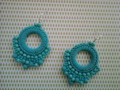 Diy Earrings, Statement Earrings, Crochet Earrings, Fabric Jewelry, Diy Jewelry, Jewelery, Diy Accessories, Crochet Accessories, Earring Tutorial