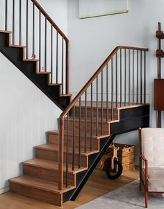 wood and iron staircase