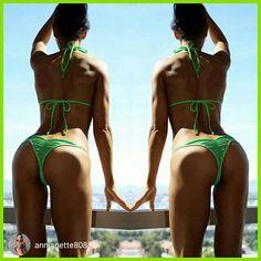 Featured Customer, Great Shot  of Anjenette in a pro scrunch bikini.