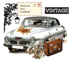 Welcome the New CoMods! by sabine-713 on Polyvore featuring Kunst, vintage, artset, artexpression and promobine