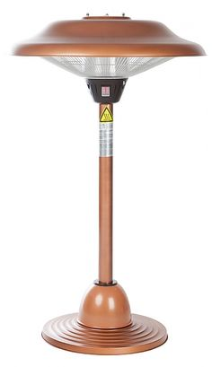 Fire Sense Table Top Copper Halogen Patio Heater   seattleluxe.com