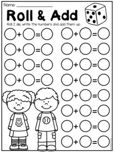 Free First Grade Math Worksheets - Mathe Ideen 2020 Homeschool Kindergarten, Preschool Learning, Teaching Math, Preschool Activities, Homeschooling First Grade, Math Math, Kindergarten Math Centers, Teaching Multiplication Facts, 1st Grade Centers