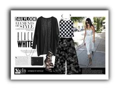 """""""How to wear Shein Black Knit Cardigan"""" by elena-indolfi ❤ liked on Polyvore featuring Kershaw and Vera Wang"""