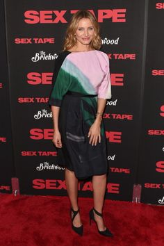 Cameron Diaz attends the 'Sex Tape' screening at Regal Union Square on July 14, 2014 in New York City
