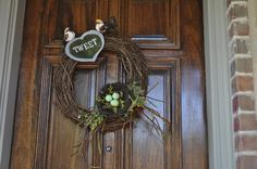 Bird Tweet Wreath by Tricia