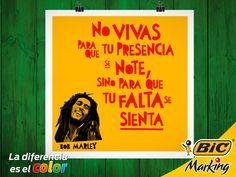 ¡Palabra de Bob Marley! #LaDiferenciaEsElColor #BobMarley #Quotes #Marley