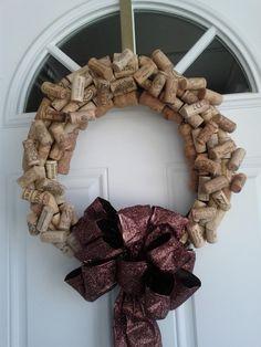 Cork wreath for Christmas