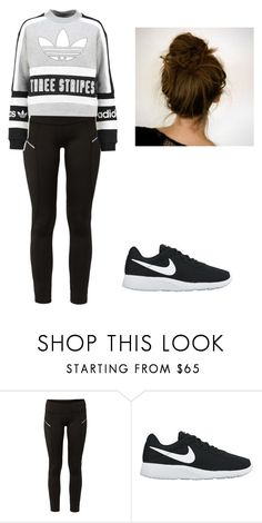 """Sans titre #964"" by stalialightwood ❤ liked on Polyvore featuring Lija, NIKE and adidas Originals"
