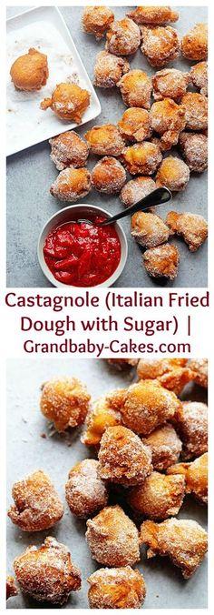Castagnole (Italian Fried Dough with Sugar) |Grandbaby Cakes