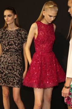 Backstage at Elie Saab RTW Spring 2014 [Photo by Delphine Achard]