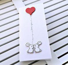 Birthday Bunnies Card Anniversary Card Valentine's Day