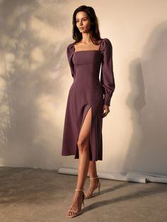 Grad Dresses, Dress Outfits, Fashion Dresses, Summer Dresses, Elegant Midi Dresses, Pretty Dresses, Casual Dresses, Classy Dress, Classy Outfits