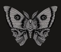 Making artwork for bands since 1989 Dope Tattoos, Leg Tattoos, Body Art Tattoos, Tattoos For Guys, Sleeve Tattoos, Tatoos, Skull Butterfly Tattoo, Moth Tattoo, Tattoo Design Drawings