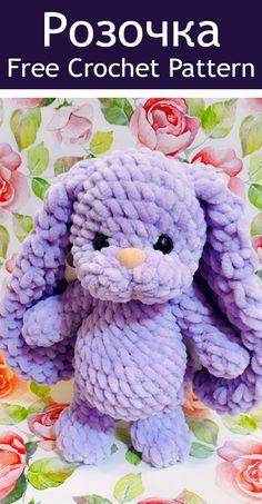 super cute rabbit crochet pattern for big wool - quick to make up DIY toys Amigurumi Doll Pattern, Crochet Bunny Pattern, Crochet Animal Patterns, Crochet Stitches Patterns, Crochet Animals, Diy Crochet Doll, Crochet Toys, Crochet Baby, Free Crochet