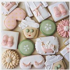 "The Cookiemint   Lisa Barbosa on Instagram: ""Spa Cookies for a Bridal Shower "" • Instagram"