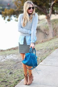 Devon Rachel: Stripes + Denim, casual friday