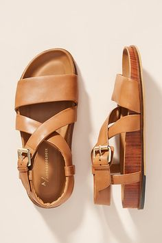 Catalina Sandals by Anthropologie in Yellow Size: Slingback Flats, Designer Sandals, Comfortable Sandals, Childrens Shoes, Leather Sandals, Women's Sandals, Sport Sandals, New Shoes, Flat Shoes