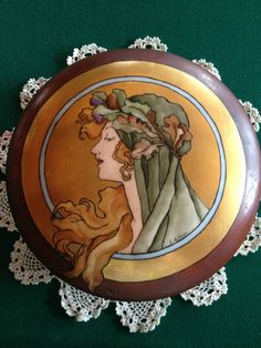 Vintage Limoge Art Nouveau Porcelain Lidded Box   eBay