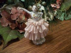Dresden Ballet Dancer Figurine Antique German Porcelain Hand Painted with…