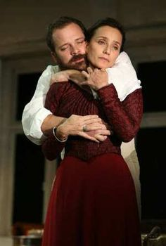 """Peter Sarsgaard and Kristin Scott-Thomas in Chekov's """"The Seagull"""". I remember seeing Tennessee William's rendering of the play at Vancouver's Playhouse theatre in the early 1980's."""
