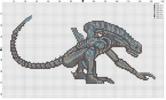 cross stitch patterns of predator   As promised, here is the pattern of the xenomorph I showed you ...