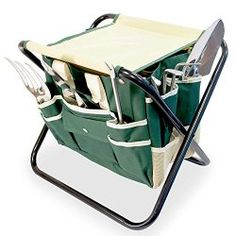 Gift Ideas for Mom - GardenHOME Folding Stool with Tool Bag & 5 Tools All-in-One – Site: Project Fellowship