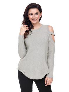Juniors  Pink Republic Lace-Up Cold Shoulder Sweater 26c3491f1