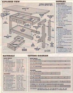 #2280 DIY Workbench Plans - Workshop Solutions