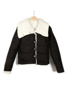 Women Lapel Warm Coat Small Thicken Padded Jacket Motorcycle Jacket