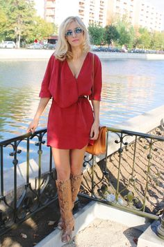 Discover this look wearing Red Dresses, Bronze Boots, Tawny Bags - Lady in red by PatriciaFrancesca styled for Business Casual, Dinner Date in the Summer Beautiful Outfits, Beautiful Clothes, Weekend Style, Business Casual, Lady In Red, Celebrity Style, Womens Fashion, Urban Fashion, Style Inspiration