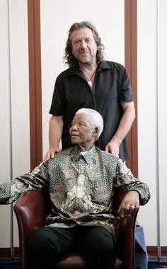 Robert with Nelson Mandela Jan 10, 2007