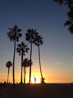 Last sunset 2013 at the Venice beach of LA