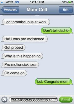 More parents texting. . .