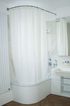 Barre de rideau de douche GalboBain sur-mesure pour baignoire asymétrique Centro Duo de Kadewei