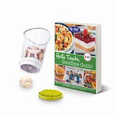 "This healthy living kit includes ""Mr. Food Test Kitchen's Hello Taste, Goodbye Guilt!"" #Cookbook and the Slice and Catch."