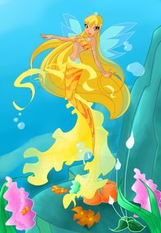 Photo of Stella mermaid for fans of The Winx Club 33146823 Winx Club, Fantasy Mermaids, Mermaids And Mermen, Winx Magic, Las Winx, Mermaid Pictures, Mermaid Coloring, Fan Picture, Merfolk