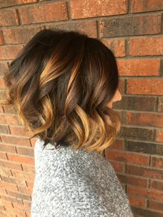 With Style & Grace: balayage, shadowed roots, angled bob, hairstyle, short hair